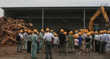 NPO法人環境NPOサンラブによる林地残材設備等の見学会